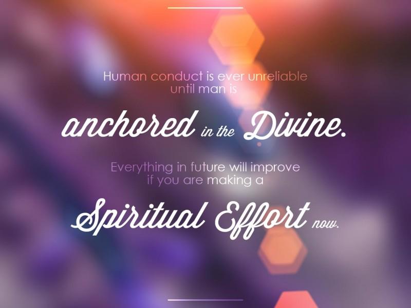Spiritual Effort