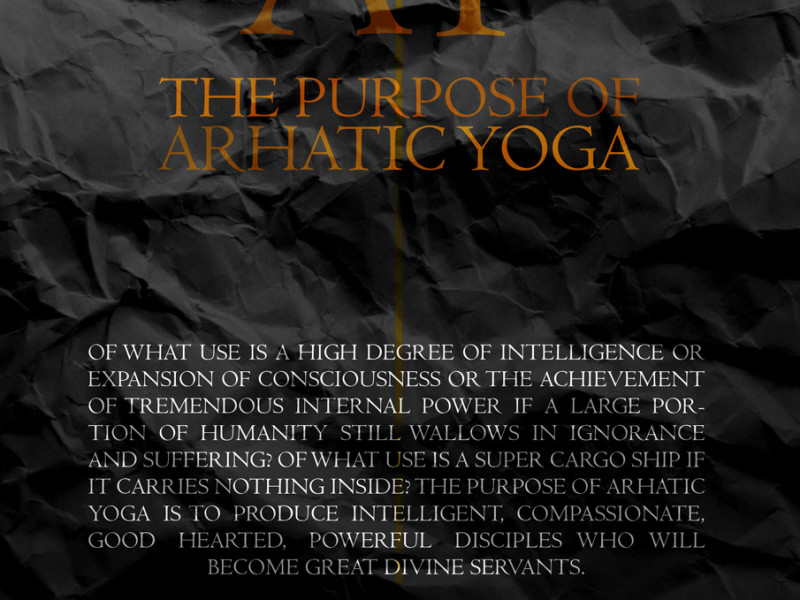 The Purpose of Arhatic Yoga