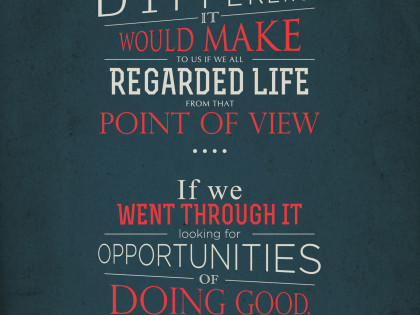 Opportunities of Doing Good