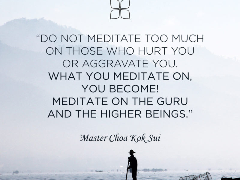 What You Meditate On